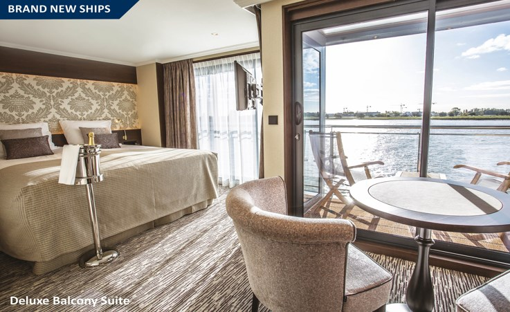 Riviera River Cruise Thomas Hardy Ship - Deluxe Balcony Suite